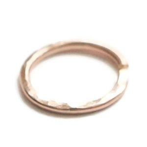 Rose Gold Hammered Piercing Hoop